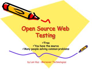 Open Source Web Testing