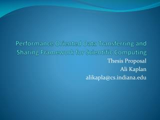 Performance Oriented Data Transferring and Sharing Framework for Scientific Computing