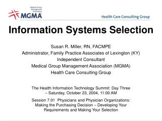 Information Systems Selection