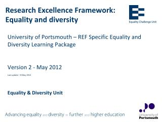 Research Excellence Framework: Equality and diversity