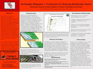Earthquake Mitigation I: Techniques for Reducing Earthquake Hazard