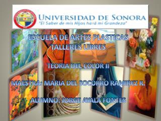 ESCUELA DE ARTES PLASTICAS TALLERES LIBRES TEORIA DEL COLOR II