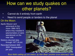 How can we study quakes on other planets?