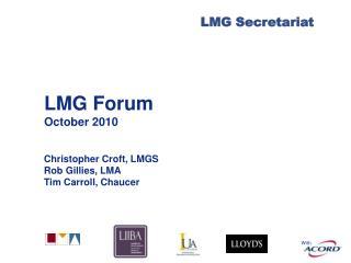 LMG Forum October 2010