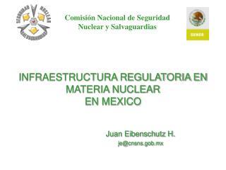 INFRAESTRUCTURA REGULATORIA EN MATERIA NUCLEAR EN MEXICO