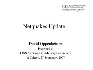 Netquakes Update