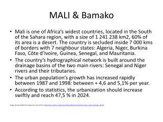 MALI & Bamako