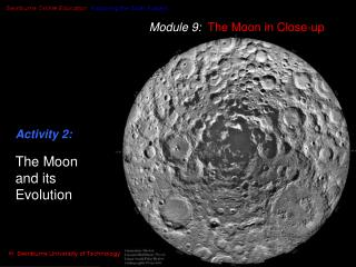 Module 9:  The Moon in Close-up