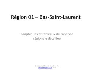 Région 01 – Bas-Saint-Laurent