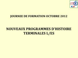 JOURNEE  DE  FORMATION OCTOBRE  2012