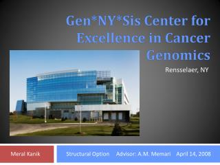 Gen*NY*Sis Center for Excellence in Cancer Genomics