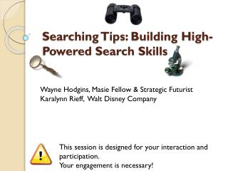 Searching Tips: Building High-Powered Search Skills