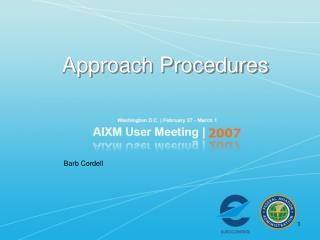 Approach Procedures