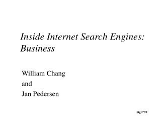 Inside Internet Search Engines: Business