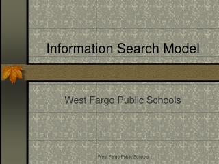 Information Search Model
