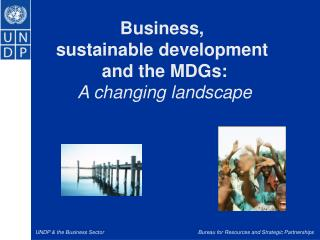 Business,  sustainable development  and the MDGs: A changing landscape