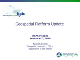 Geospatial Platform Update
