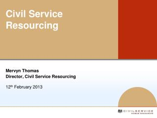 Civil Service Resourcing