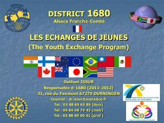 DISTRICT  1680 Alsace Franche-Comté