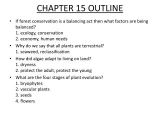CHAPTER 15 OUTLINE