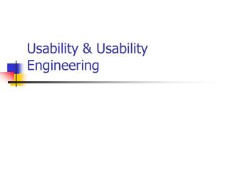 Usability & Usability Engineering