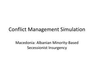 Conflict Management Simulation