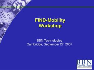 FIND-Mobility  Workshop