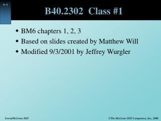 B40.2302  Class 1