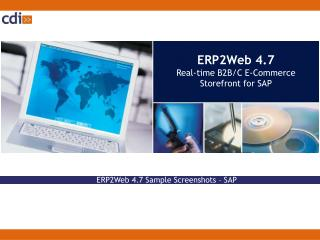 ERP2Web 4.7  Real-time B2B/C E-Commerce Storefront for SAP