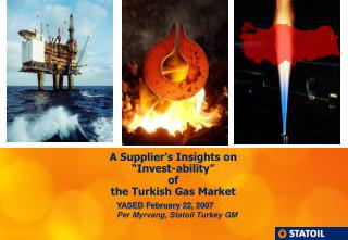 """A Supplier's Insights on  """"Invest-ability""""  of  the Turkish Gas Market"""