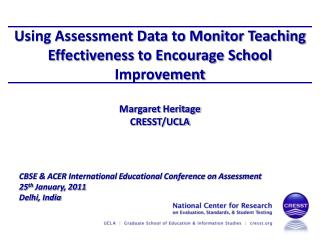 Using Assessment Data to Monitor Teaching Effectiveness to Encourage School Improvement
