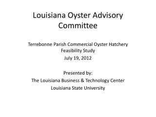 Louisiana Oyster Advisory Committee