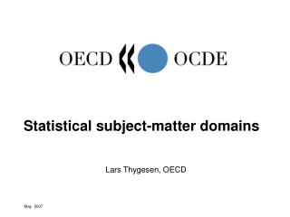 Statistical subject-matter domains