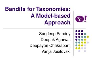 Bandits for Taxonomies: A Model-based Approach