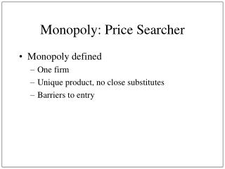 Monopoly: Price Searcher