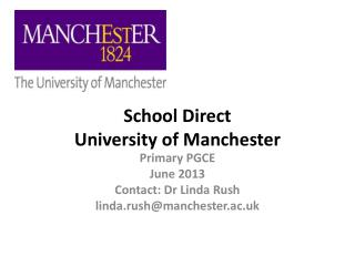 School Direct  University of Manchester