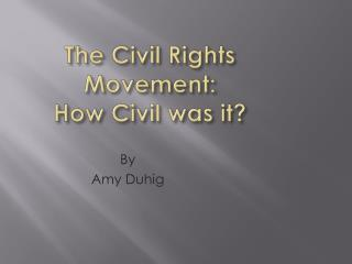 The Civil Rights Movement:   How Civil was it?
