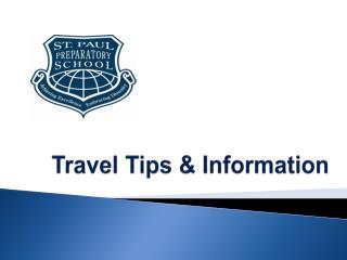 Travel Tips & Information