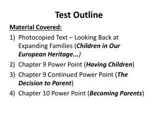 Test Outline