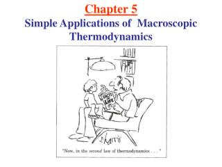 Chapter 5 Simple Applications of  Macroscopic Thermodynamics