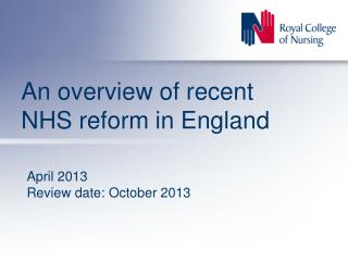 An overview of recent NHS reform in England