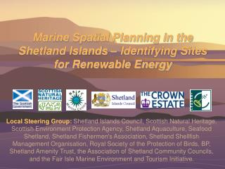 Marine Spatial Planning in the Shetland Islands – Identifying Sites for Renewable Energy