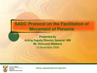 SADC Protocol on the Facilitation of Movement of Persons