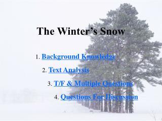 The Winter's Snow