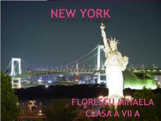 NEW YORK FLORESCU MIHAELA CLASA A VII A