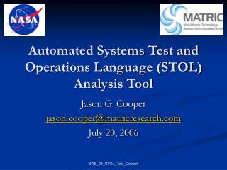 Automated Systems Test and Operations Language (STOL) Analysis Tool