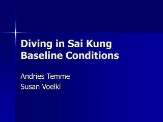 Diving in Sai Kung Baseline Conditions
