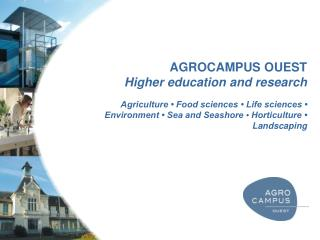 AGROCAMPUS OUEST Higher education and research