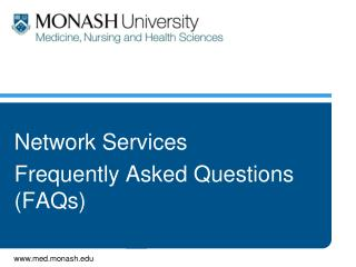 Network Services Frequently Asked Questions (FAQs)