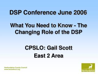 DSP Conference June 2006
